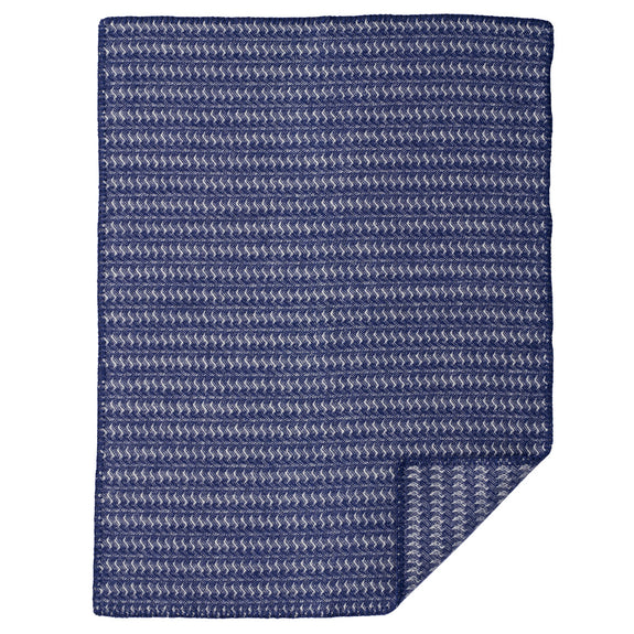 Sumba Eco Wool Baby Blanket Blue