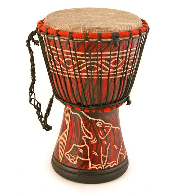 Ghanaian Djembe Hand Drum - Medium