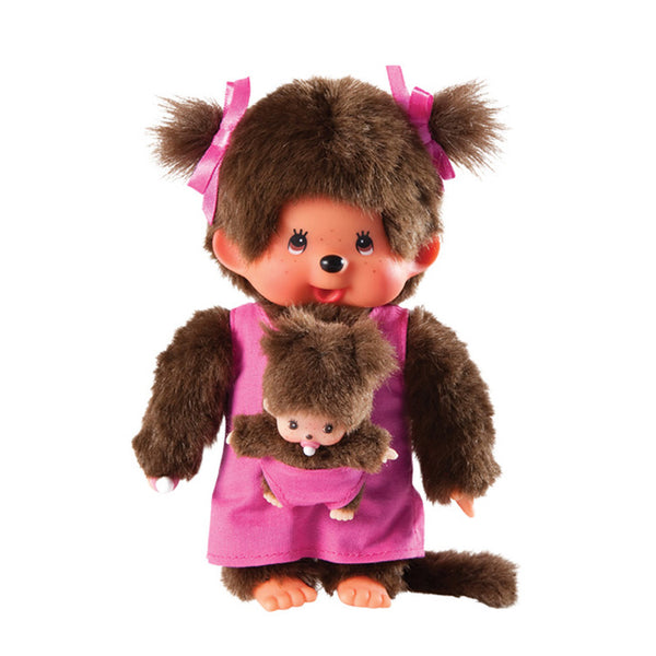 Monchhichi Mother with Baby - Pink
