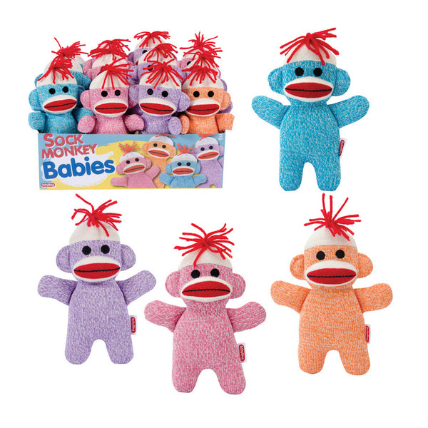 Sock Monkey Baby - Assorted Colors
