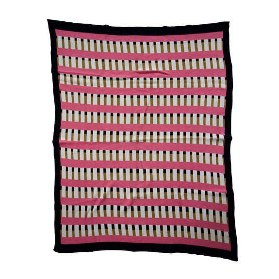 Tatami Bubblegum Gold Throw