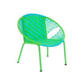Petit Peekabo Chair - Green/Aqua