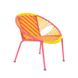 Petit Peekaboo Chair - Yellow/Pink