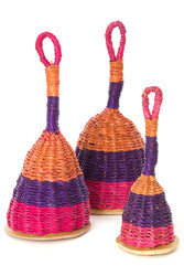 Elephant Grass Maracas Shaker - Purple/Pink/Orange - Various Sizes