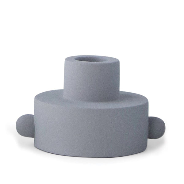 Grey Dual Function Taper Tealight Holder