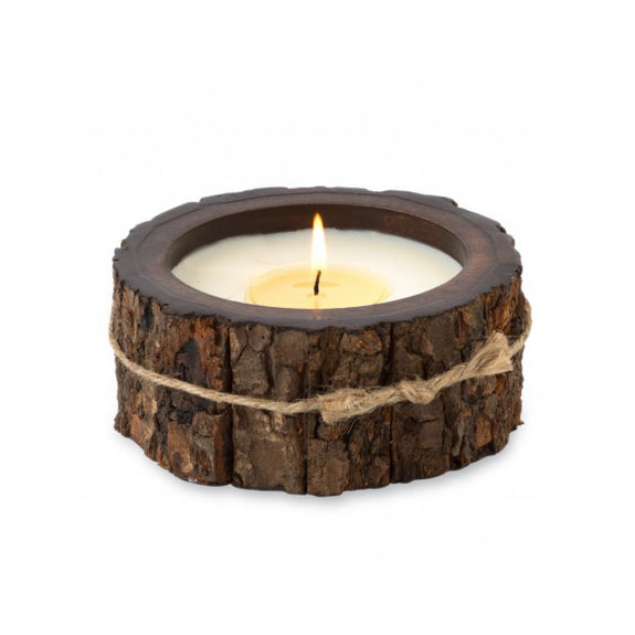 Tree Bark Candle Pot - Small - Various
