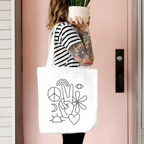 Tote Bag - Hippie Vibes