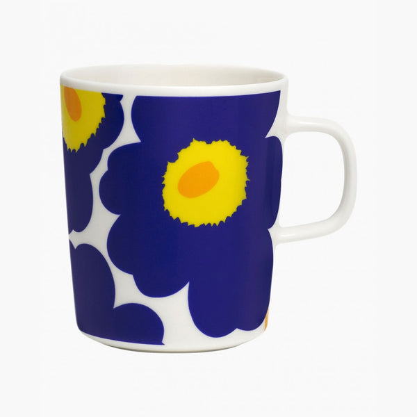 Unikko Mug (Dark Blue, Yellow)