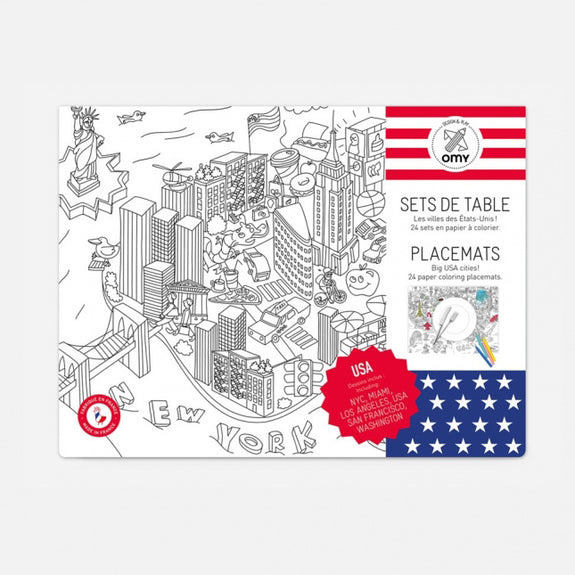 Coloring Placemats - United States