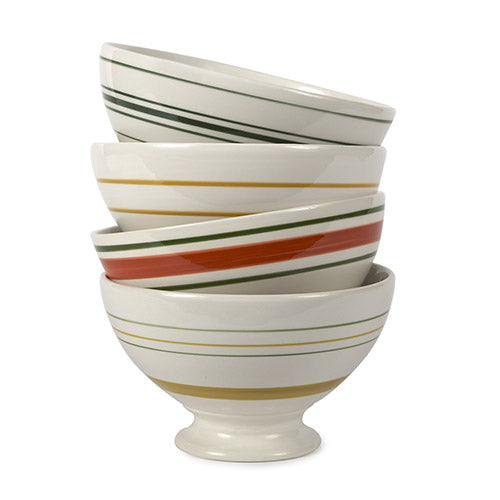 Vintage Stripe Bowl (comes in assorted colors)