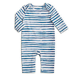 Water Stripe LS Coverall - Ocean