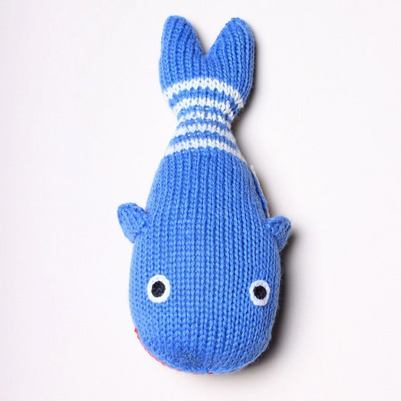 Organic Baby Rattle - Whale