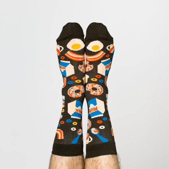 Men's Crew Socks Breakfast
