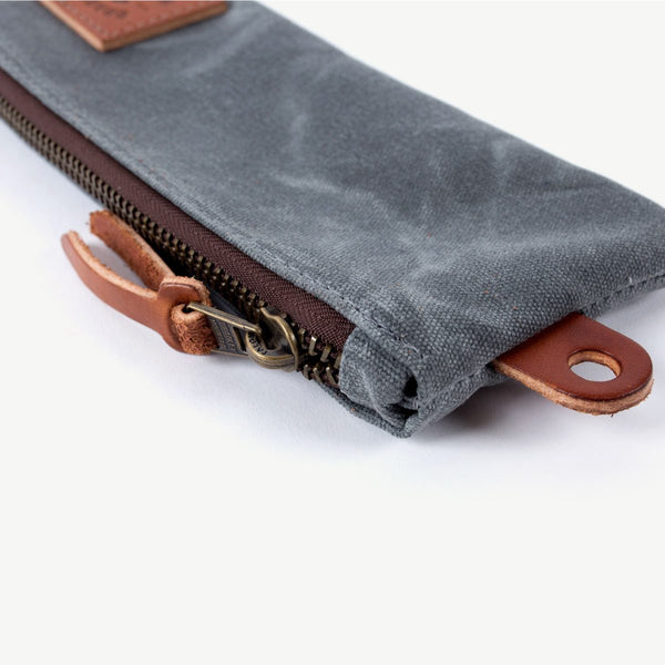 Pencil Zip Pouch - Charcoal