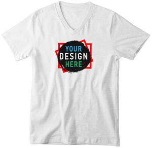 Custom V Neck Tee | Add Your Own Design & Personalize Clothing | Custom4You