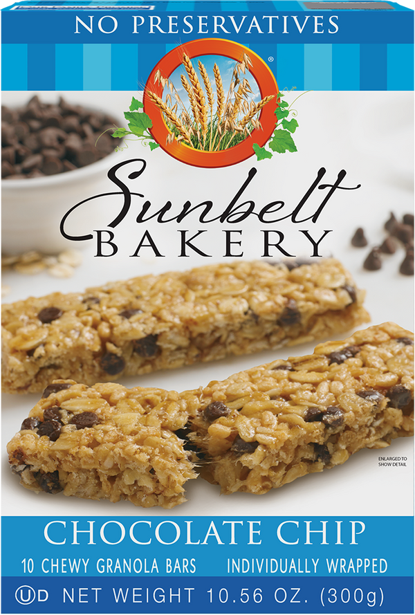 Chocolate Chip Chewy Granola Bars, 10 Bars