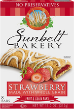 Strawberry Fruit & Grain Bars, 8 Bars