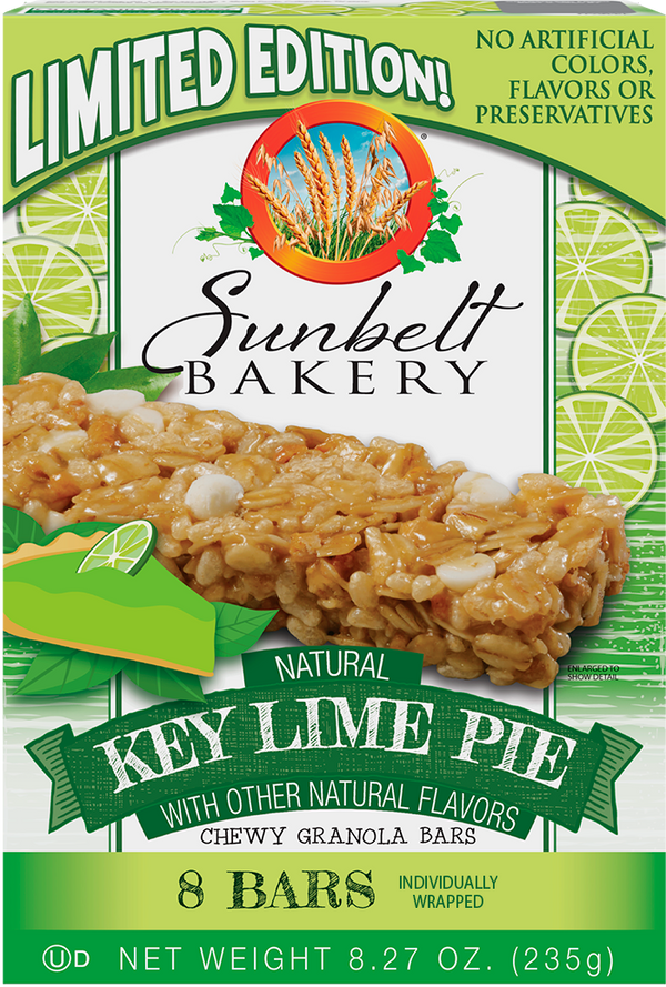 Key Lime Pie Chewy Granola Bars