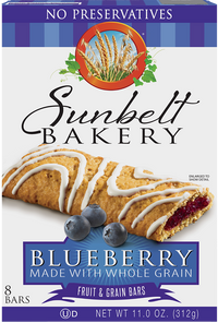 Blueberry Fruit & Grain Bars