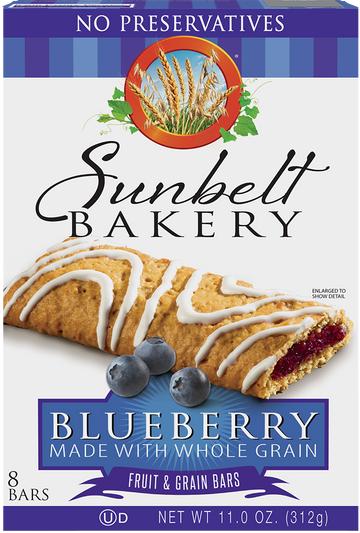 Blueberry Fruit & Grain Bars, 8 Bars