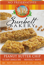 Peanut Butter Chip Chewy Granola Bars, 10 Bars