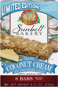 Coconut Cream Chewy Granola Bars