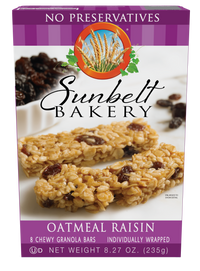 Oatmeal Raisin Chewy Granola Bars