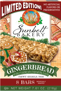 Gingerbread Chewy Granola Bars, 8 Bars