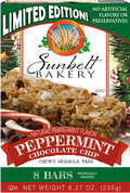 Peppermint Chocolate Chip Granola Bars, 8 Bars