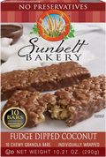 Fudge Dipped Coconut Chewy Granola Bars, 10 Bars