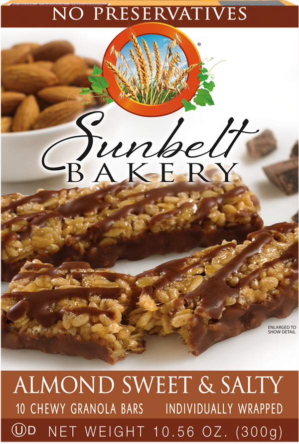Almond Sweet & Salty Chewy Granola Bars, 10 Bars