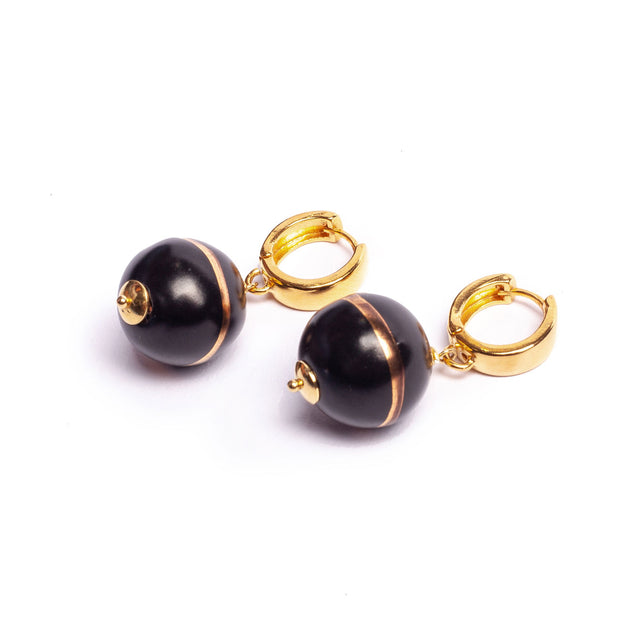 TERRA NERA PETIT CIRCLE EARRINGS