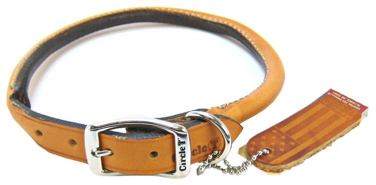 Circle T Leather Round Collar - Tan