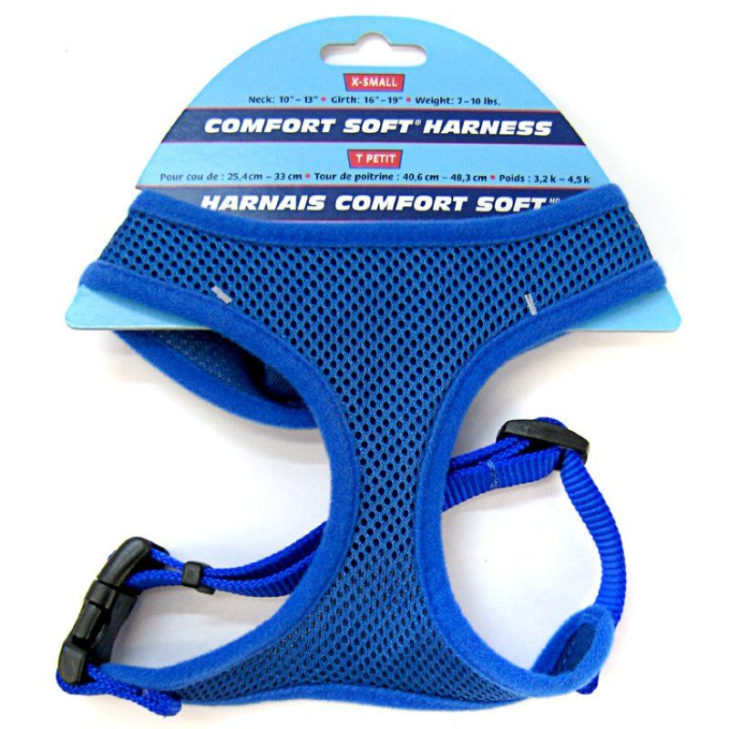 Coastal Pet Comfort Soft Adjustable Harness - Blue