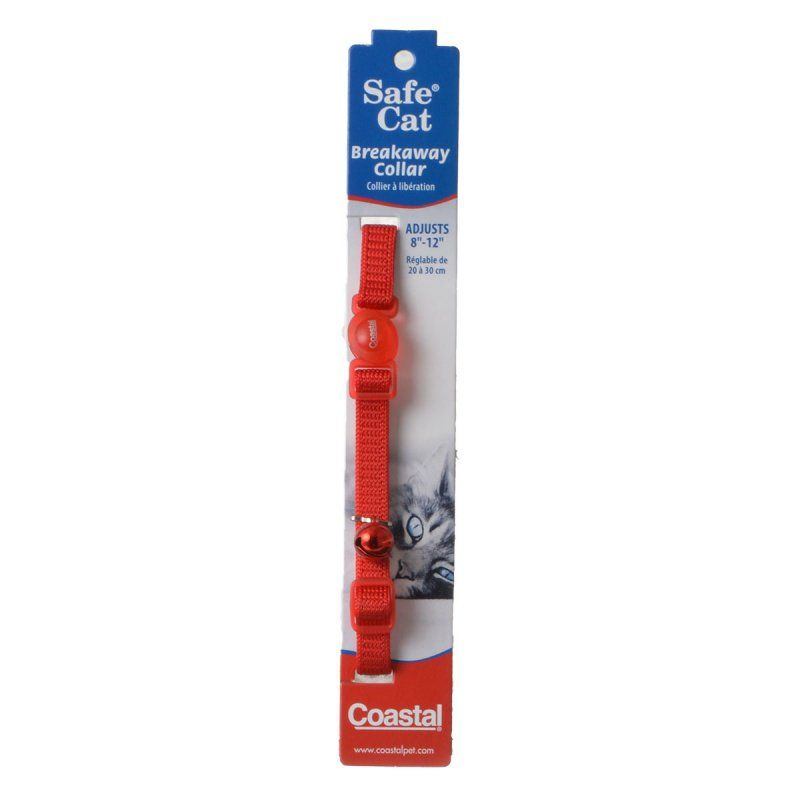 Coastal Pet Safe Cat Nylon Adjustable Breakaway Collar - Red