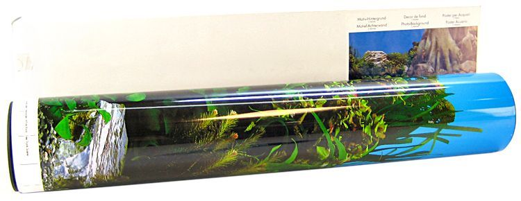 Blue Ribbon Freshwater Rock & Tree Trunks Double Sided Aquarium Background