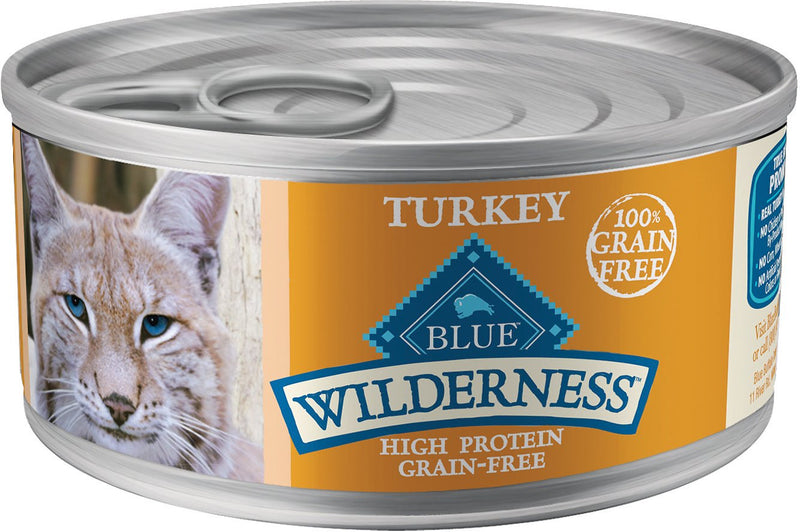 Blue Buffalo Wilderness Turkey Cat 5.5OZ 24 Count Case