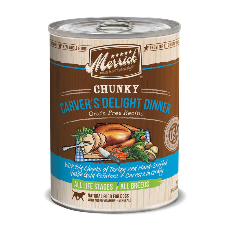 Merrick Chunky Carvers Delight Dinner 12.7oz 12 Count Case