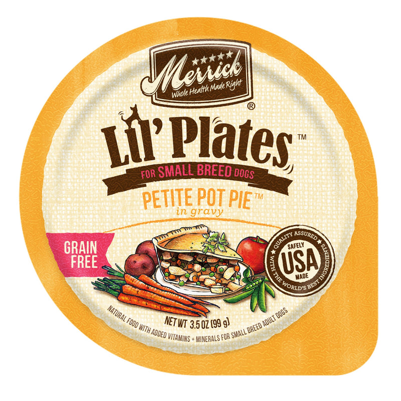Merrick Lil' Plate Petite Pot Pie 3.5oz 12 Count Case