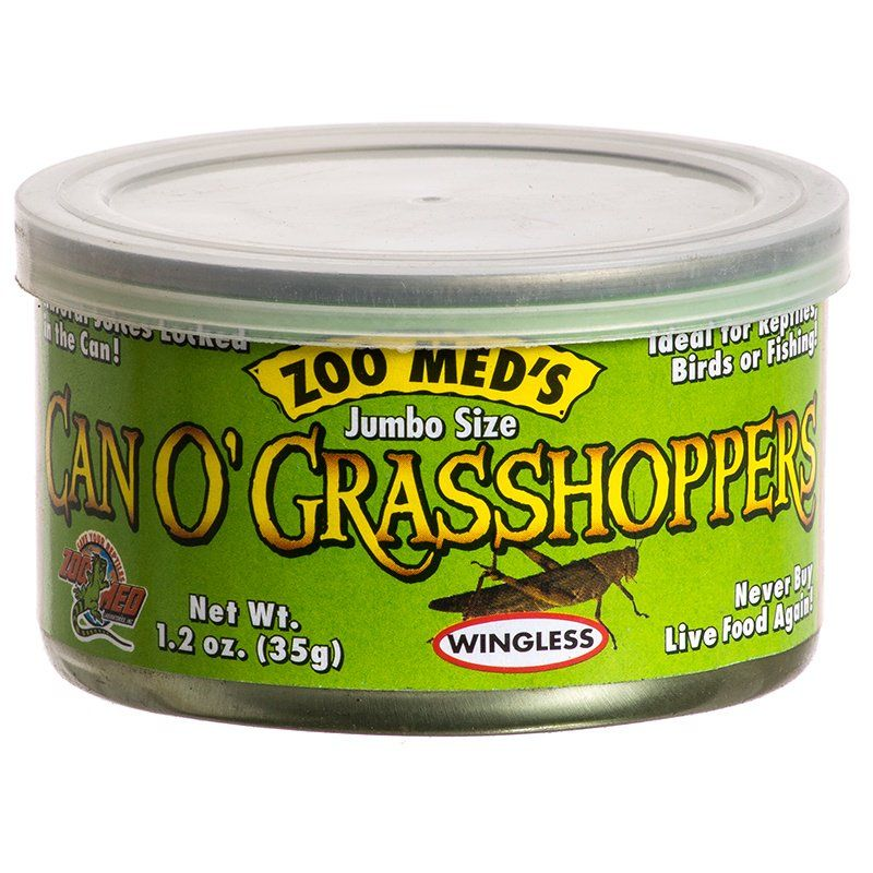 Zoo Med Can O' Jumbo Sized Grasshoppers