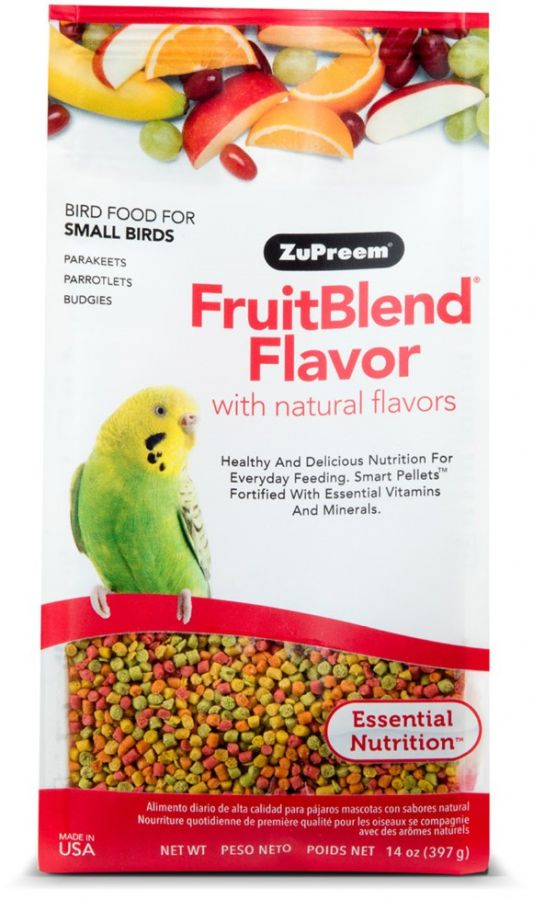 ZuPreem FruitBlend Premium Daily Bird Food - Small Birds