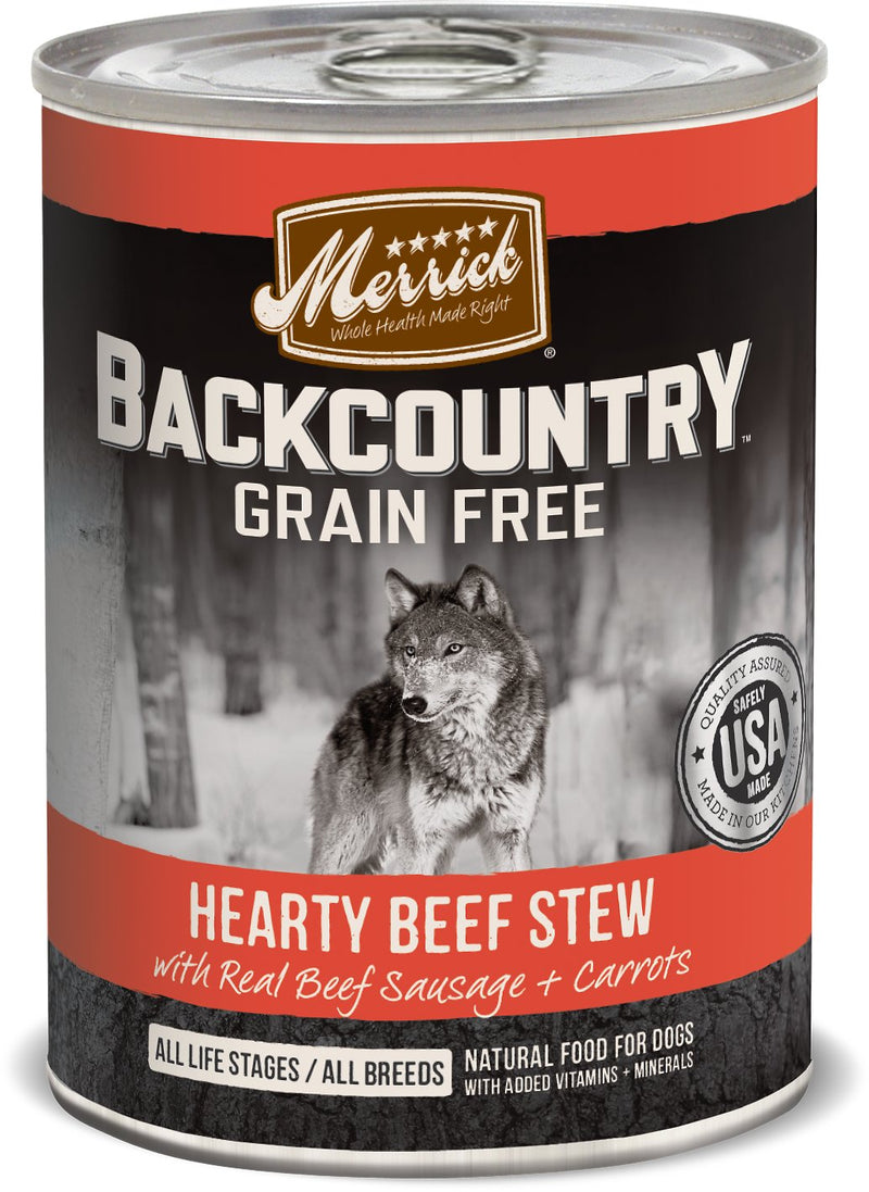Merrick Backcountry Hearty Beef Stew 12.7oz 12 Count Case