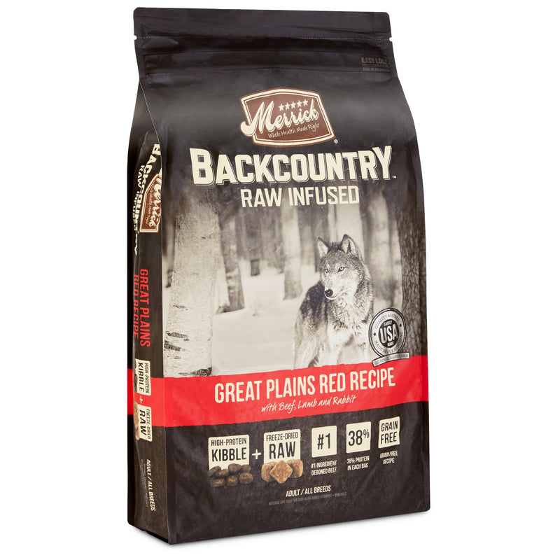 Merrick Backcountry Grain Free Raw Infused Great Plains Red Meat 22lb