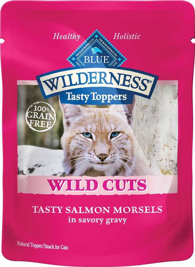 Blue Buffalo Wilderness Topper Salmon Cat 3oz 12 Count Case