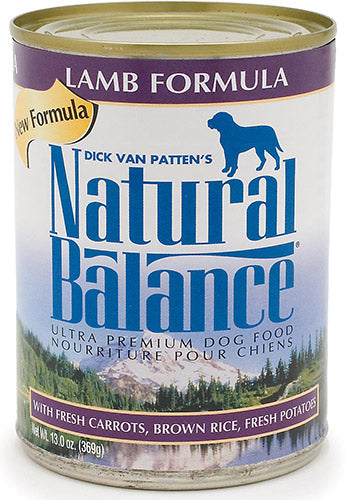 Natural Balance Lamb Formula 13oz 12 Count Case