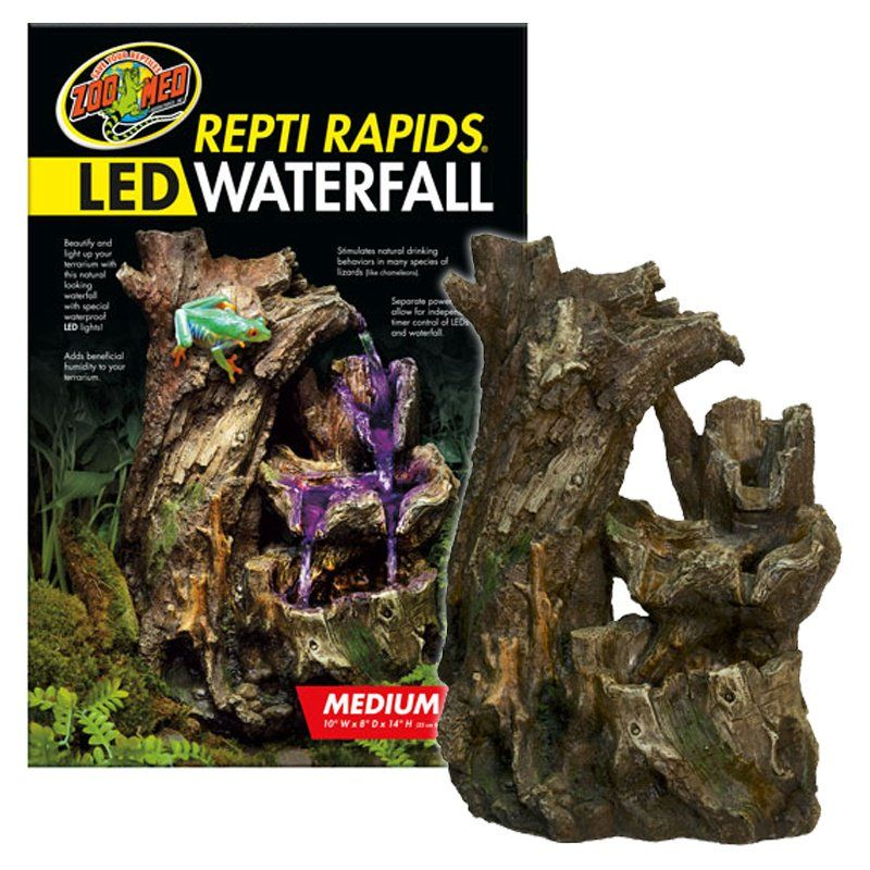 Zoo Med Repti Rapids LED Waterfall - Wood Style