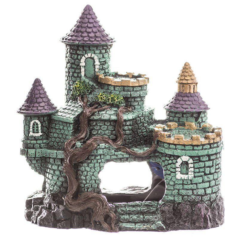 Blue Ribbon Exotic Environments Hobbit Castle Aquarium Ornament