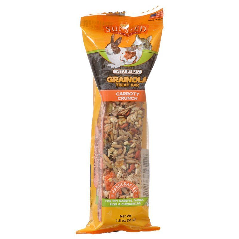 Sunseed Grainola Rabbit Treat Bar - Carroty Crunch