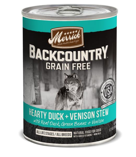 Merrick Backcountry Hearty Duck & Venison Stew 12.7oz 12 Count Case