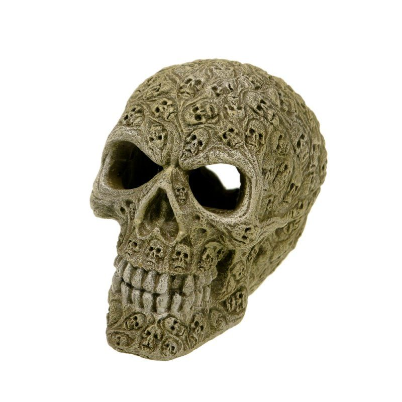Exotic Environments Haunted Skull Aquarium Ornament